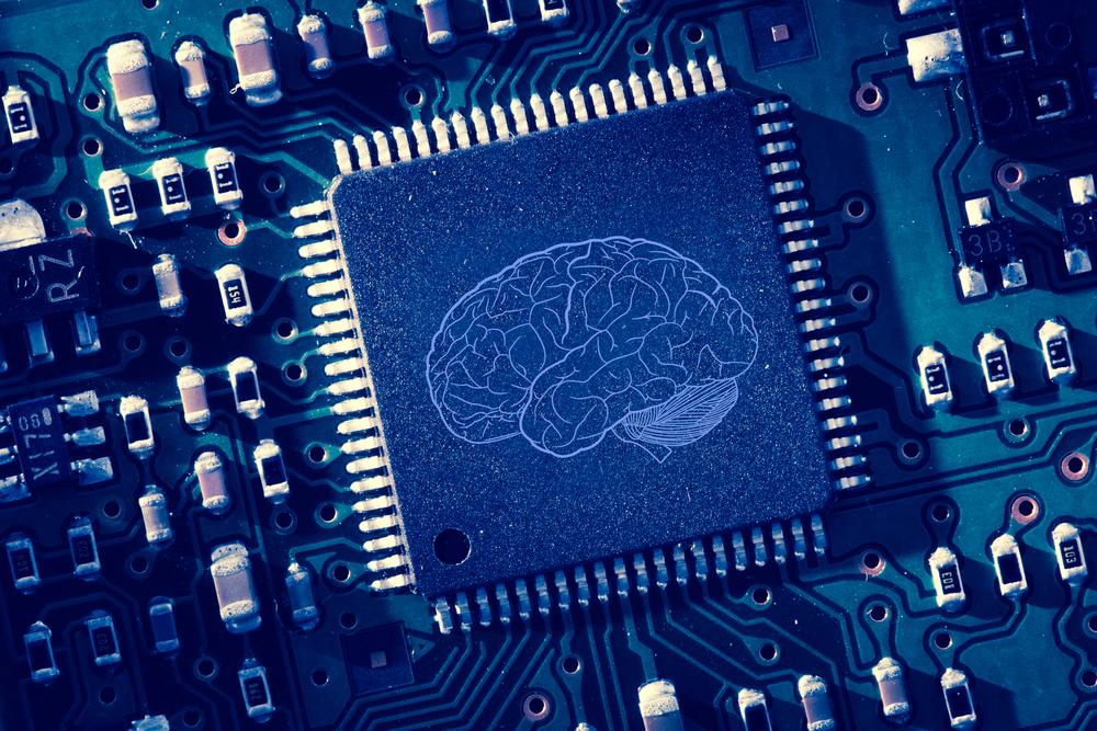 Printed brain onto circuit board